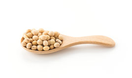Soy beans. On white background Stock Photo