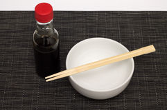 Soy chopsticks Royalty Free Stock Photo