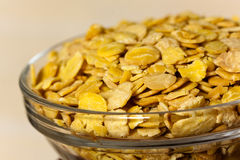 Soy flakes in the bowl Stock Image
