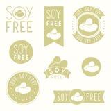 Soy free badges. Hand drawn vector illustration vector illustration