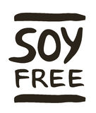 Soy free hand drawn isolated label Royalty Free Stock Image