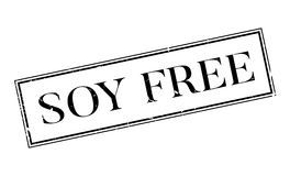 Soy Free rubber stamp Stock Photography