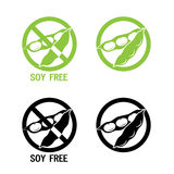 Soy Free Symbol. Vector Illustrations Icon On A White Background. Soy Free Foods. Soy Free Diet. Royalty Free Stock Images