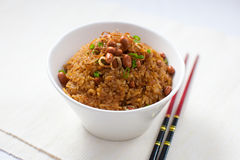 Soy Fried Rice. On a bowl Stock Photography