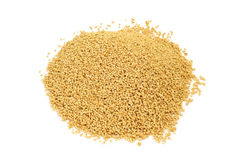 Soy lecithin granules stock photo