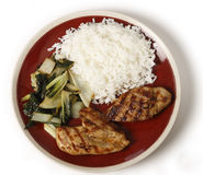 Soy marinaded chicken breast meal Stock Images