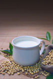 Soy milk in a cup. Royalty Free Stock Photo