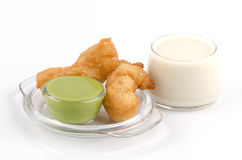 Soy milk and deep-fried doughstick def and screw pine Stock Image