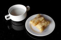 Soy milk and deep fried doughstick Stock Images