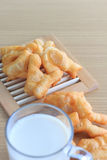 Soy milk and fried bread stick Stock Image