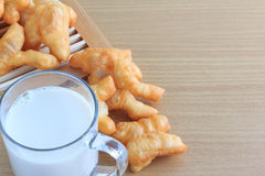 Soy milk and fried bread stick Royalty Free Stock Image