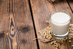 Soy Milk with some Seeds Stock Photo