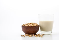 Soy milk. On white background stock images