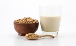 Soy milk. On white background Royalty Free Stock Photo