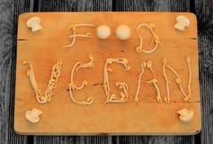 Display food vegan stock image