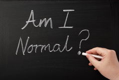 ¿Soy normal? Fotografía de archivo libre de regalías
