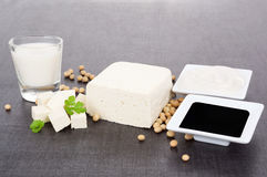 Soy products still life. Stock Image