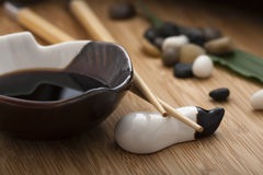 Soy sauce. Still-life.Japanese style soy sauce royalty free stock photography