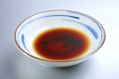 Soy sauce. Japanese or Chinese Soy Sauce in the dish Stock Photography