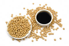 Soy sauce and beans Royalty Free Stock Images