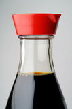 Soy sauce bottle. Macro isolated Royalty Free Stock Images