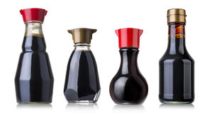 Soy sauce bottle Stock Image