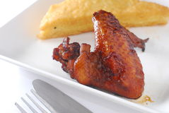 Soy sauce chicken wing Royalty Free Stock Photos