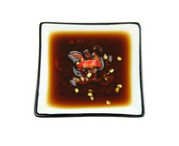 Soy Sauce With Chillies Stock Image