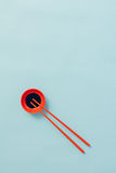 Soy sauce and chopstick Royalty Free Stock Images