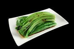 Soy Sauce On Choy Sum 2 Royalty Free Stock Images