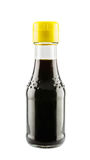 Soy sauce in glass bottle Stock Images