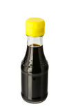 Soy sauce in glass bottle Royalty Free Stock Photos