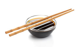 Soy sauce isolated on white background, with clipping path Royalty Free Stock Image
