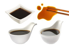 Soy sauce isolated on white Stock Photography