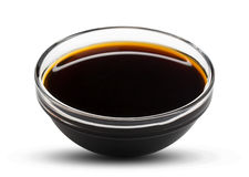 Soy sauce isolated on white Stock Image