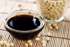 Soy Sauce. Portion of Soy Sauce in a small bowl stock photos