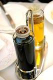 Soy sauce in seasoning bottle Royalty Free Stock Image