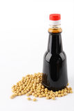 Soy sauce and soybean Stock Photography