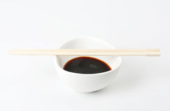 Soy Sauce in Suace-boat Stock Photos