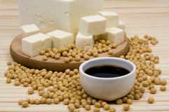 Soy sauce and tofu cheese Stock Image