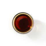 Soy sauce on white isolated background Stock Images