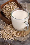 Soy and soy milk Royalty Free Stock Photos