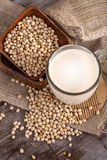 Soy and soy milk Royalty Free Stock Photography