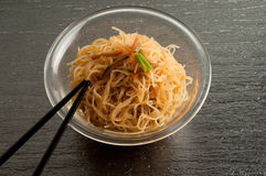 Soy spaghetti Royalty Free Stock Images