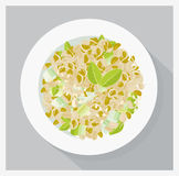 Soy sprouts salad Royalty Free Stock Photography