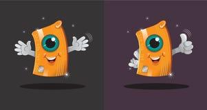 Soy tarjeta de crédito, su mascota ilustración del vector