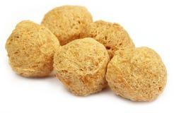 Soya balls over white background Stock Images