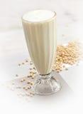 Soya bean juice. Glass of soya bean juice Stock Image
