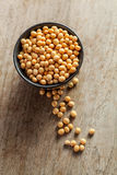 Soya beans in a bowl Stock Images