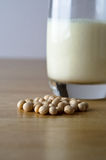 Soya Beans and Milk Stock Photo
